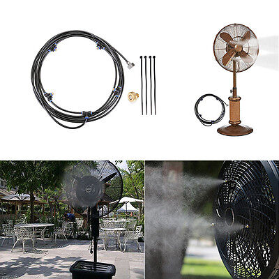 5M Outdoor Misting System Fan Cooler Water Cooling Patio Mist Garden Spray Hot