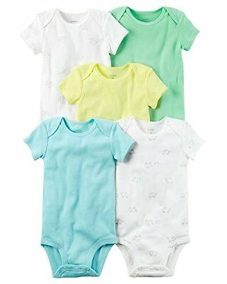 Carter's Baby Boys' 5 Pack Bodysuits (Baby) Turtle and Snail, Newborn