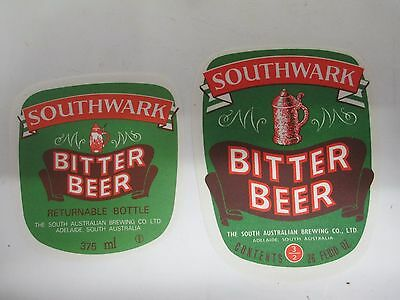 2x Southwark bitter Beer Labels