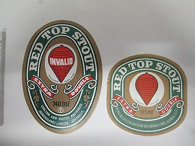 370 & 740ml Red Top Stout Beer Labels