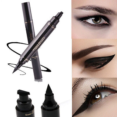Winged Eyeliner Stamp Waterproof Makeup Cosmetic Eye Liner Pencil Liquid Schwarz