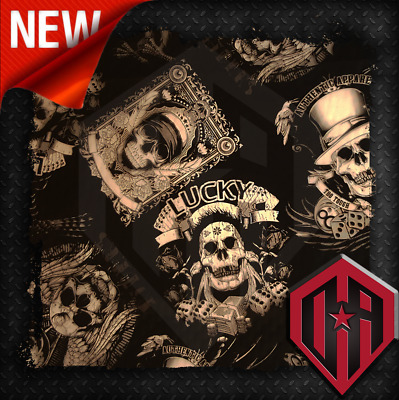 Hydrographic Water Transfer Hydrodip Film Hydro Dip Lucky Skull Gambling Skulls