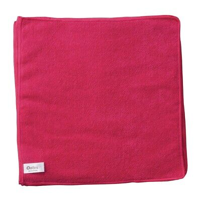 Oates Microfibre Cloth Red Pack of 10 BARGAIN