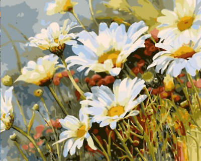 16X20'' Paint By Number kit DIY Acrylic Painting On Canvas Bloom Flowers 1513