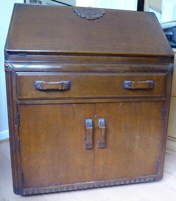 Old dark wood bureau