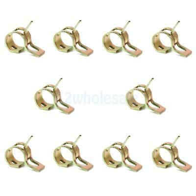 10Pcs 6mm Spring Clips Air Fuel Oil Water Hose Clip Pipe Tube Clamp Fastener