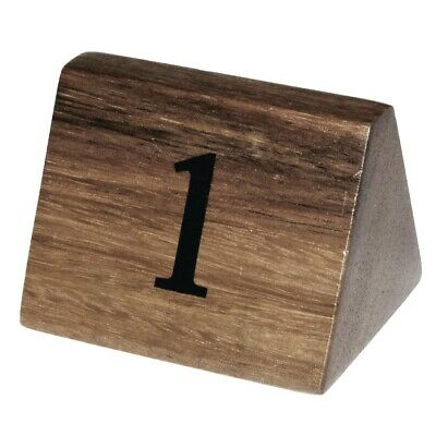 Olympia Acacia Table Number Signs Numbers 1-10 (Pack of 10) BARGAIN