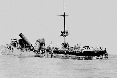 sms EMDEN Bombed & beached Cocos Islands 1914 1st View modern digital  Postcard