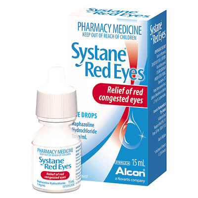 Systane Red Eye Drops 15Ml NEW Cincotta Chemist