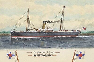 VICTORIAN of the Adelaide Steamship Co Art Digital Postcard Modern