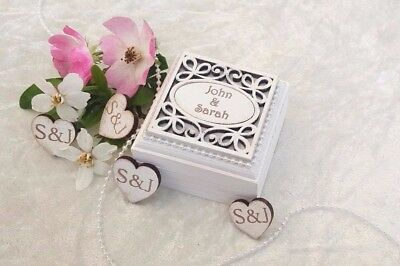Personalised Luxury Double Wedding/Engagement Ring Bearer Box - 'Oval' Design