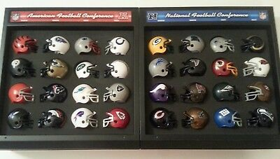 Riddell NFL Mini Helmets Complete Set With Display Cowboys Raiders Patriots
