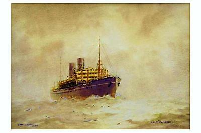 COMORIN (1)  P & O Line Co Painting by J Allcot Australia digital Art Postcard