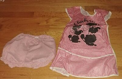 1960s VINTAGE 2T Girls Top and Diaper Cover bottom EUC Checkers Poodles
