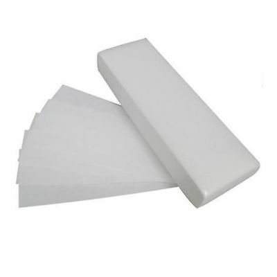 100 x Paper Strips Wax Waxing Leg Body Non -Woven Professional Quality UK Supply