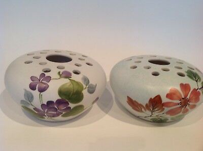 Vintage Radford Pottery hand painted Posy Vase Flower Holder