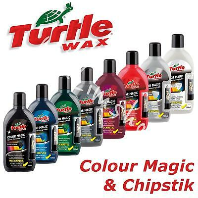 Turtle Wax Color Magic 500ml with chipstick Car Scratches Restorer Polish Clean