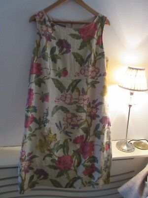 Beautiful laura ashley Linen shift dress. Size 16.