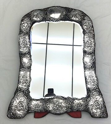 Important 1901 English Sterling Silver  Dressing Table Mirror William Comyns