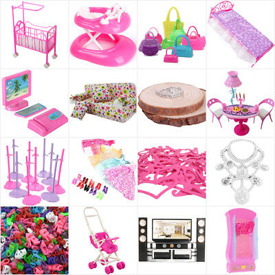Furniture Bag Plane Car Clothes Accessories Dream House DVD for Barbie Dolls B1