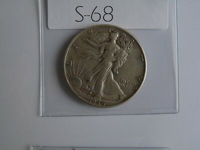 Vintage  Usa  1946    50 Cent Silver    S68