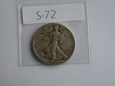 Vintage  Usa  1941  50 Cent Silver S72