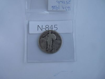 Vintage Usa  1926 25 Cent Silver Standing Liberty  N845