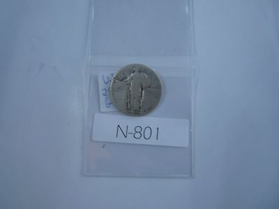 Vintage Usa  1926 25 Cent Silver Standing Liberty  N801