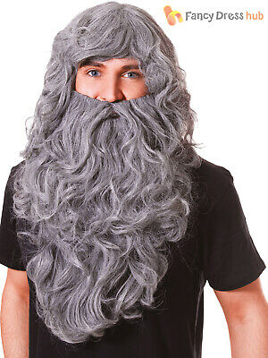 Adult Wizard Wig + Beard Mens Halloween Fancy Dress Costume Accessory Gandalf