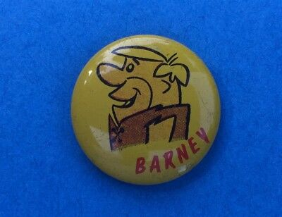 Rare 1960's Flintstones Collectible Cartoon Jacket Hat Lapel Pin Button Barney B