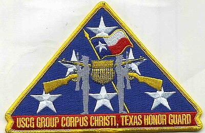 "USCG Coast Guard Patch - Group Corpus Christi - Honor Guard (5"" x 4"") (fire)"