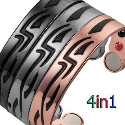 Solid Pure Copper Magnetic Horseshoe Men Women  Bangle/bracelet Arthritis  Cb23V