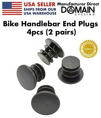 Bar Ends/Lenkerhörnchen 4pcs Bike MTB Black Mini Rubber Grip Handlebar Bar End Plugs Stoppers Caps YEG