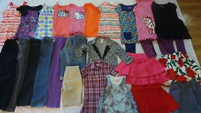 Girl lot of 13 Tops, 11 Pants, 4 Short Skirts......Size 8, M (8/10), L