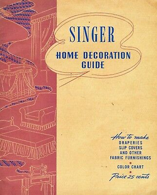Vintage 1943 Singer Sewing Maching Home Decoration Guide * WW2 Era