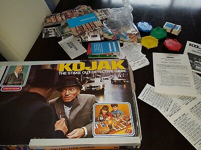 VINTAGE Board GAME KOJAK THE STAKE OUT DETECTIVE GAME