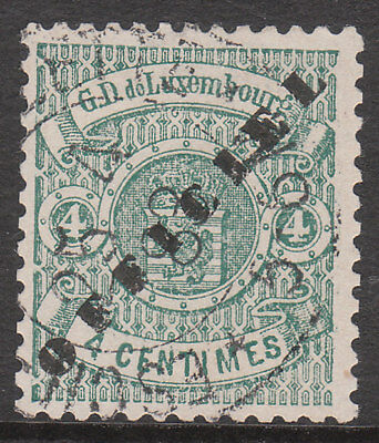 LUXEMBOURG 1878 #0108 USED OPTED OFFICIEL OFFIAL STAMP ex LEMAIRE
