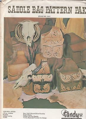 Saddle Bag Pattern Pak Learn to Make Tooled  Leather two styles Tandy 1917