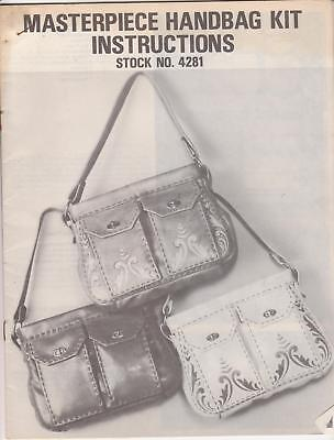 """Masterpiece"" Handbag Pattern Leather making & tooling instructions Tandy #4281"