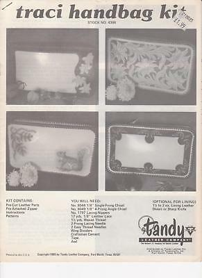 """Traci"" Handbag Pattern Leather making & tooling instructions Tandy #4388"