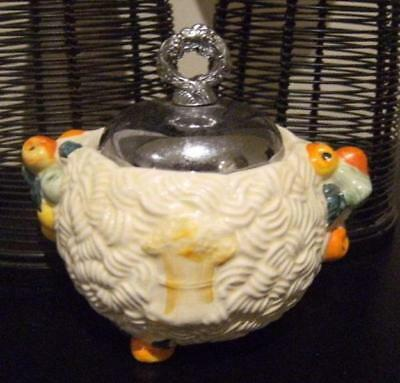 CELTIC HARVEST - CLARICE CLIFF three footed SUGAR BOWL