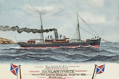 GLANWORTH of AUSN Co, Sydney 1870s A C Green Art modern digital Postcard