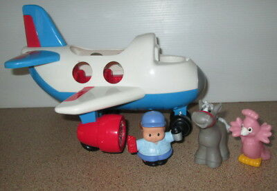 Fisher Price Little People Aeroplane With Sound Lights Noice Animals Toy