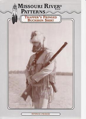 How To Make Trapper's Fringed Buckskin Shirt Leather Pattern Missouri River