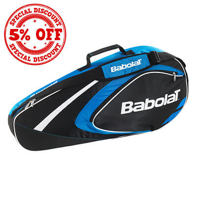 BABOLAT Club Line Cart Bags Racket Holder Blue/Yellow Brand New Backpack