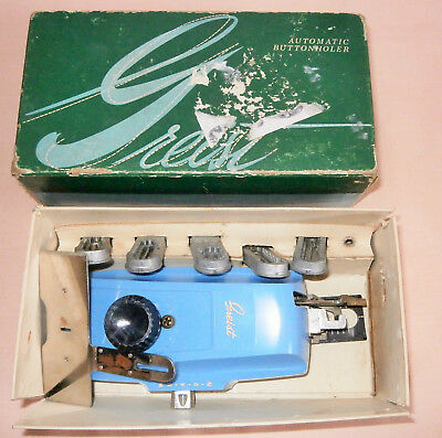 Vintage Greist Sewing Machine Automatic Buttonholer Accessory / Attachment