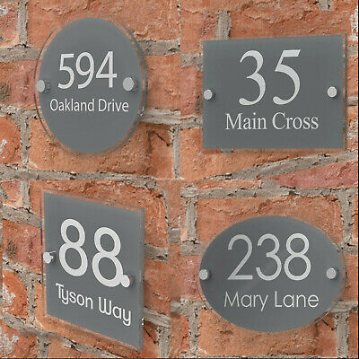 Modern House Number Plaques Acrylic Wall Door Sign Name Plate