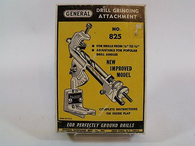 General Drill Grinding Attachment No. 825 for Bit Sharpening