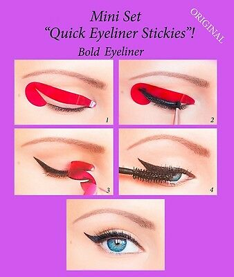 Quick Eyeliner Stickies Trucco Perfetto Ochcio  STARTER SET 12 pcs ORIGINAL IT1