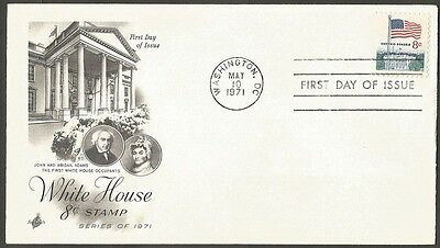 Us Fdc 1971 White House 8C Stamp Art Craft First Day Of Issue Cover
